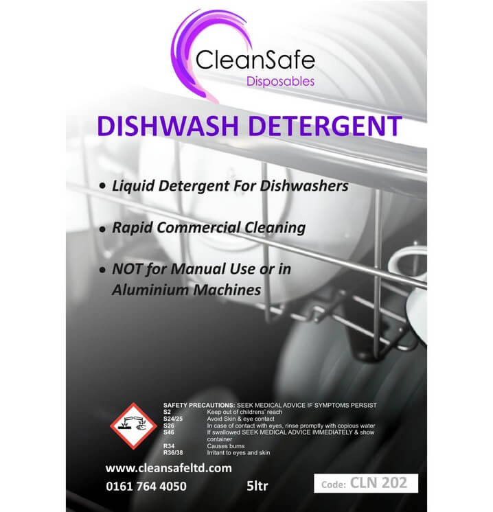 Dishwasher Detergent 5ltr Cleaning Supplies Direct